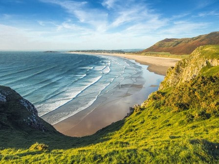 Sandy beach in Wales