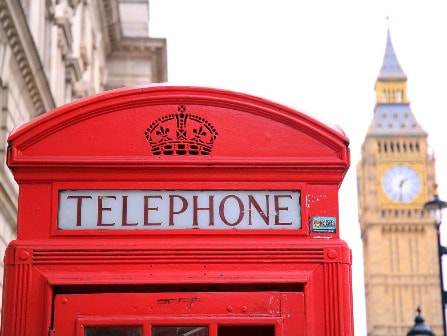 Red phone box and big ben in London
