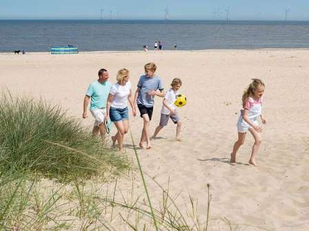 Beach near Haven Caister on Sea Holiday Park