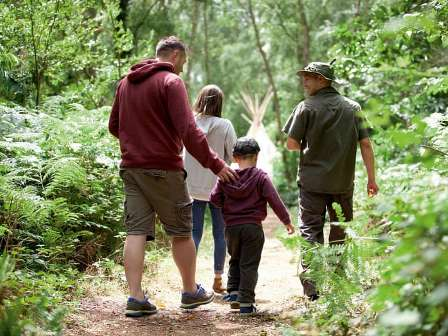 Woodland walks at Wild Duck Holiday Park