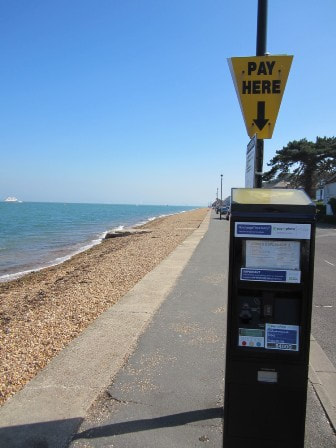 Cowes parking machine