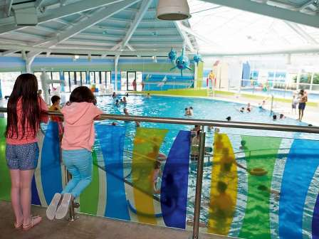 Indoor swimming pool at Haven Littlesea Holiday Park