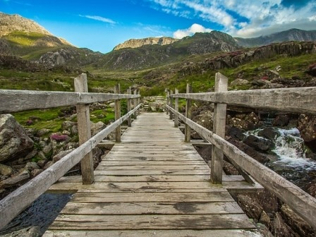 Bridge at Snowdonia in Wales