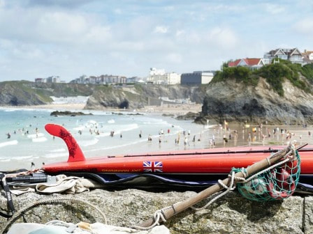 Surf board at Newquay