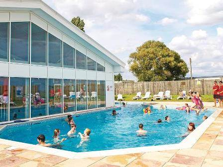 Outdoor swimming pool at Coopers Beach Holiday Park