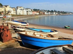 Boats at Dawlish in Devon