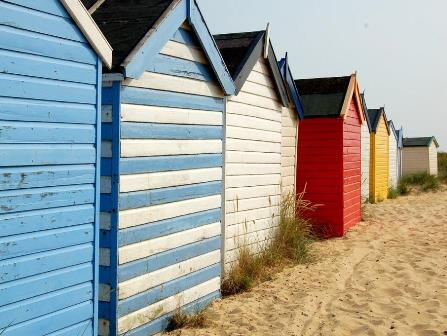 Beach huts at Southwold Suffolk