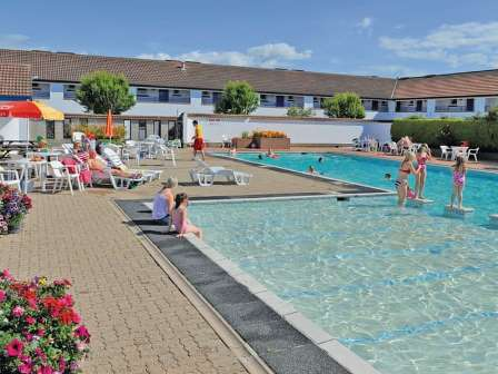 Outdoor swimming pool at Stanwix Park Holiday Centre