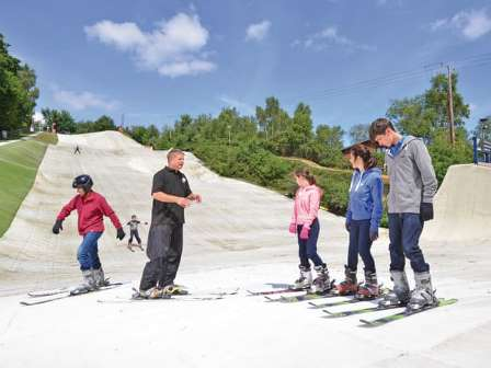 Skiing at Warmwell Holiday Park
